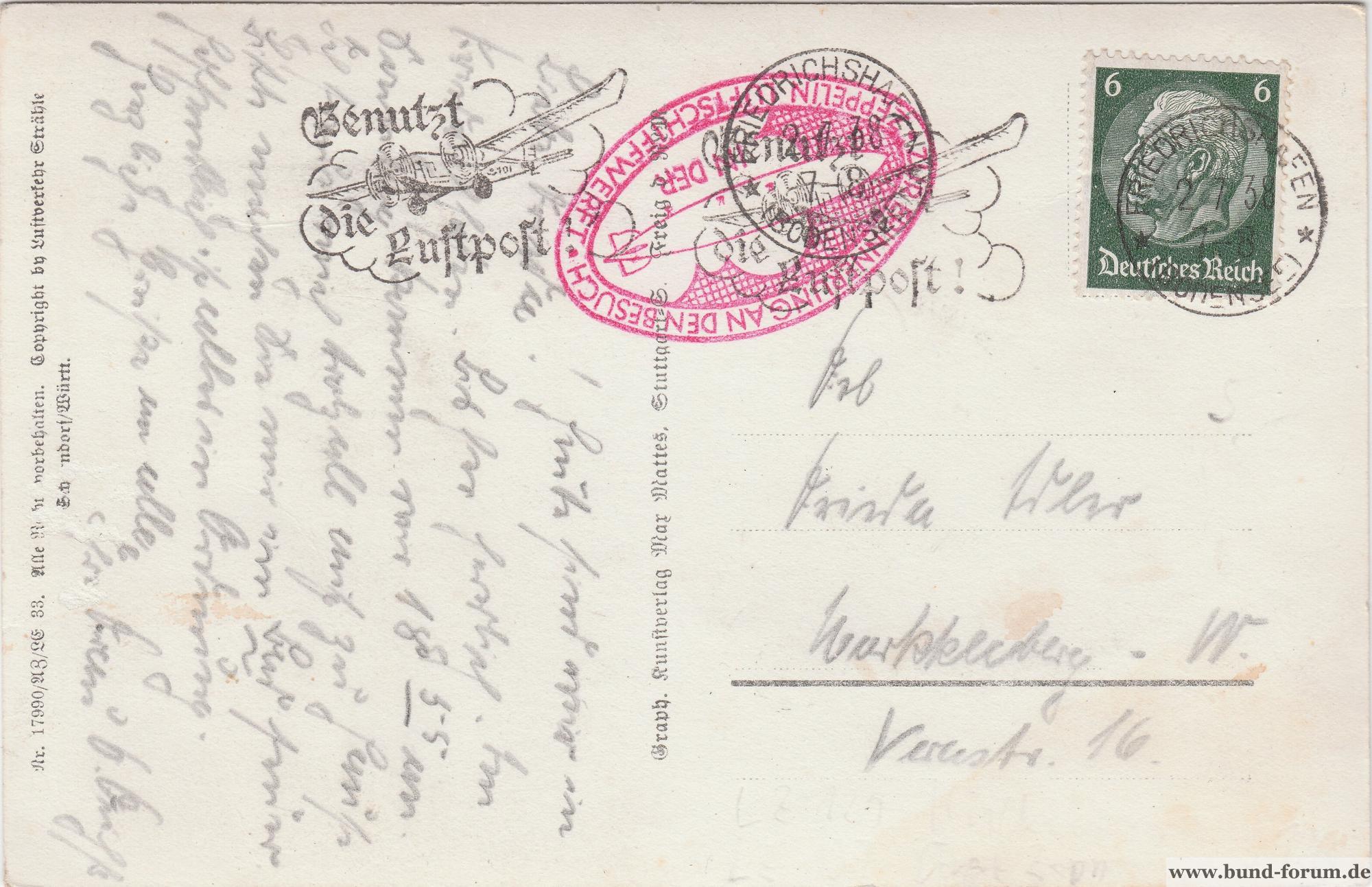 Deutschland Vor 1945 Deutsches Reich 1938 Briefstück Sonderstempel Plauen Schutz Hindenburg